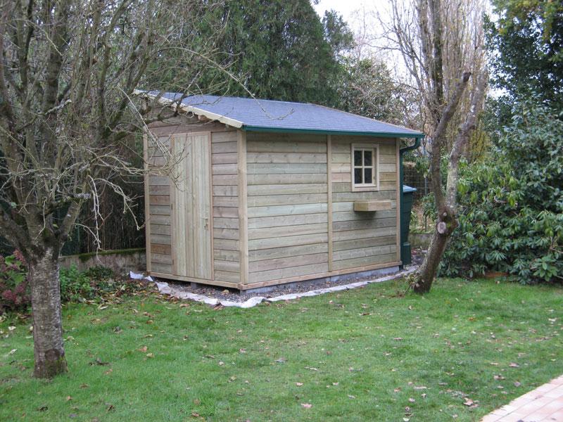 Abri bois gamme hirondelle abri de jardins en bois abri la romagne - Abri de jardin en bois traite ...