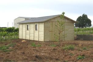Abri de jardin en bois fabrication sur mesure kiwi abris de la romagne - Abri jardin waterloo nantes ...